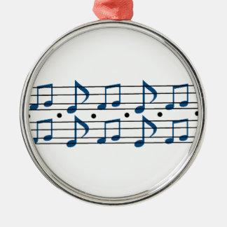 音楽ノートのスケール メタルオーナメント