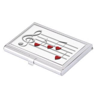 音楽ノートのハートのデザイン 名刺入れ