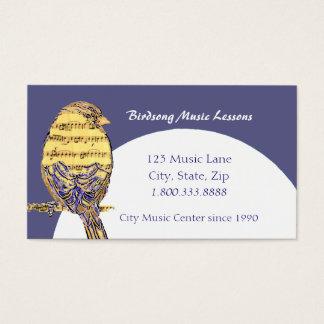 音楽ノートのレッスン鳥のカスタムな名刺 名刺