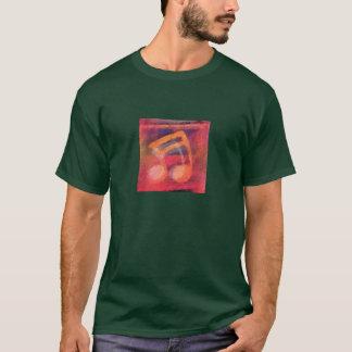 音楽ノートの人のワイシャツ Tシャツ