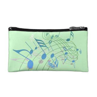 音楽ノートの化粧品袋 コスメティックバッグ