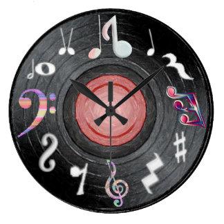 音楽ノートの時計 ラージ壁時計