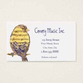 音楽ノートの鳥のカスタムな名刺 名刺