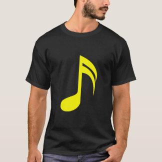 音楽ノートの黄色 Tシャツ