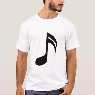 音楽ノートの黒 Tシャツ