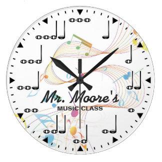 音楽ノートのPersonalizableの柱時計 ラージ壁時計