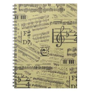 音楽ノートパターン音楽テーマのノート ノートブック