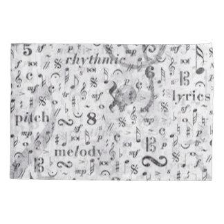 音楽ノートパターン音楽テーマの枕箱 枕カバー
