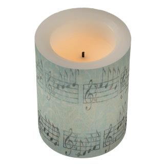 音楽ノートパターン音楽テーマLEDの蝋燭 LEDキャンドル