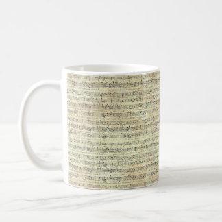 音楽ノートパターン音楽ピアノテーマのマグ コーヒーマグカップ