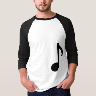 音楽ノート3/4の長さのワイシャツ Tシャツ
