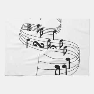 音楽ノート キッチンタオル
