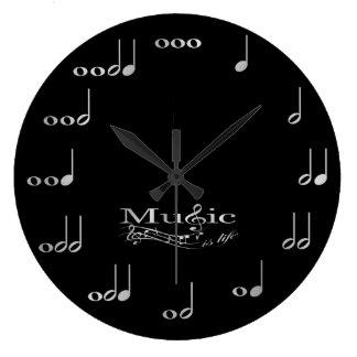 音楽ノート-音楽は生命です ラージ壁時計
