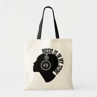 音楽バッグ-スタイル及び色を選んで下さい トートバッグ