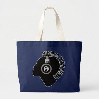 音楽バッグ-スタイル及び色を選んで下さい ラージトートバッグ