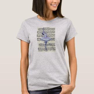 音楽バレエのTシャツへのダンス Tシャツ