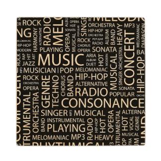 音楽パターン単語の雲 ウッドコースター