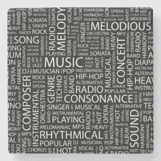 音楽パターン単語の雲 ストーンコースター