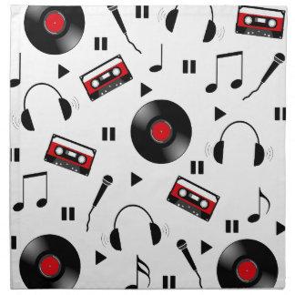 音楽パターン ナプキンクロス