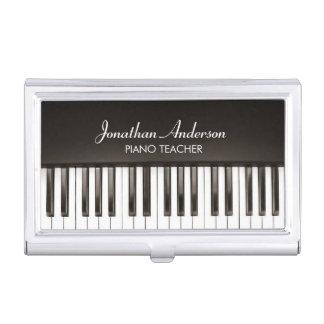 音楽ピアノの教師の名刺入れ 名刺ケース