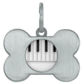 音楽ピアノは白黒を調整します ペットネームタグ