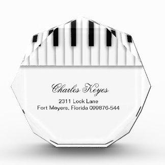 音楽ピアノは白黒を調整します 表彰盾