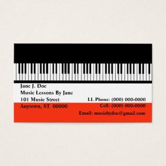 音楽ピアノキーボードのキーボード器官の名刺 名刺