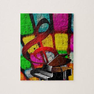 音楽ピアノ鍵ノートの先生の運命の楽器 ジグソーパズル