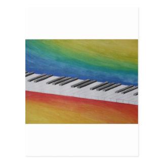 音楽ピアノ鍵ノートの先生の運命の楽器 ポストカード