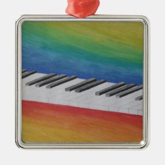 音楽ピアノ鍵ノートの先生の運命の楽器 メタルオーナメント