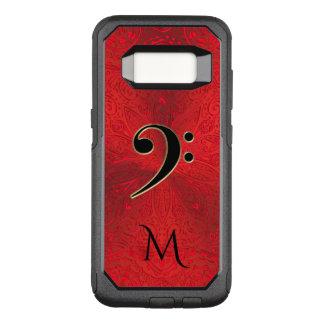 音楽ヘ音記号の赤い曼荼羅のオッターボックスの銀河系の箱 オッターボックスコミューターSamsung GALAXY S8 ケース