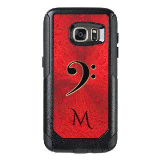 音楽ヘ音記号の赤い曼荼羅のオッターボックスの銀河系の箱 オッターボックスSamsung GALAXY S7ケース