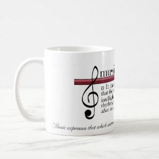 """音楽マグは、""""音楽…できないマグを表現します コーヒーマグカップ"""