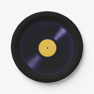 音楽レトロのオールドスタイルのビニールディスクプレート ペーパープレート