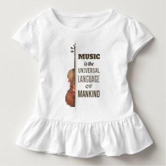 音楽世界共通語|のひだのティー トドラーTシャツ