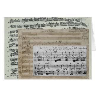 音楽原稿 カード