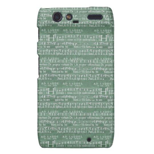 音楽原稿Motorola中世RAZRの場合 Motorola Droid RAZR Cover