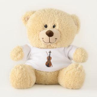 音楽及びバイオリンの恋人のシャーマンのテディー・ベア テディベア
