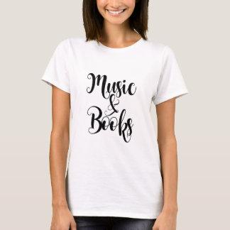 音楽及び本はタイポグラフィの原稿のギフトのトレンディーを引用します Tシャツ