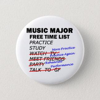 音楽専攻のなリスト-人 5.7CM 丸型バッジ