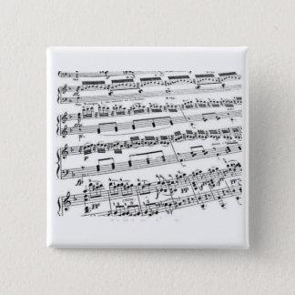 音楽専攻学生か学生または先生 5.1CM 正方形バッジ