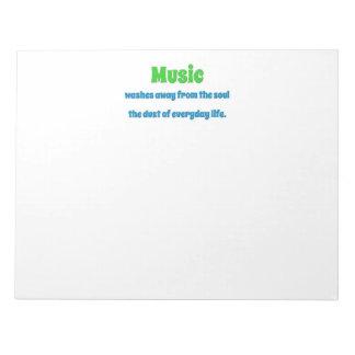 音楽引用文-音楽は精神のThからの遠くに…洗浄します ノートパッド