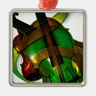 音楽弦楽器のバイオリンの運命デジタル メタルオーナメント