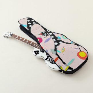 音楽愛は猫および鳥をからかいます ギターケース