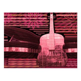 音楽愛インスピレーション ポストカード