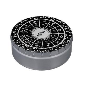 音楽愛好者のための音楽テーマのデザイン アメ缶