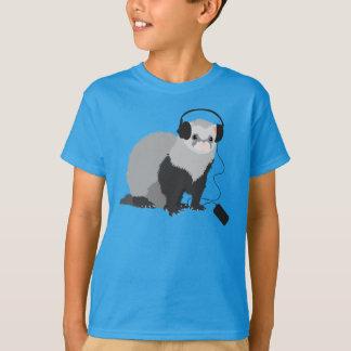 音楽愛好者のフェレットの子供 Tシャツ