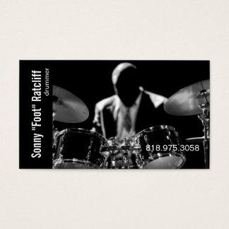 音楽業界カードのためのドラマーのミュージシャン 名刺