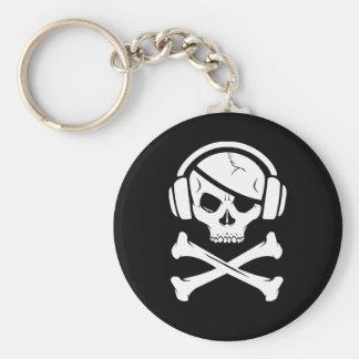 音楽海賊海賊行為のアンチriaaのロゴ キーホルダー