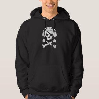 音楽海賊海賊行為のアンチriaaのロゴ パーカ